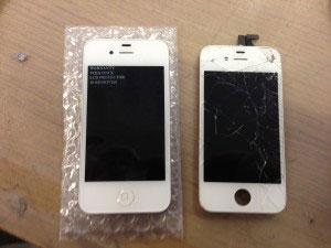 iPhone 4 screen replacement after